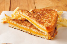 Grilled Cheese Sandwich With F...
