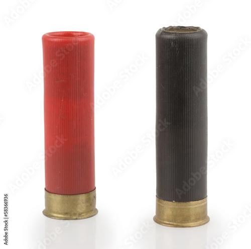 Obraz na plátne shotgun shells on white background