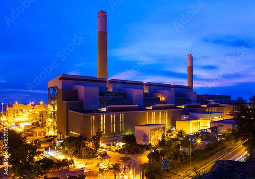Staande foto Industrial geb. Industrial plant at night