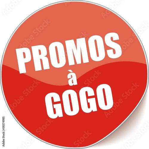 étiquette promo à gogo Poster