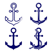 Anchor Symbols Set Vector  Ill...