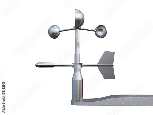 Anemometer, wind speed and direction measuring device. Wallpaper Mural