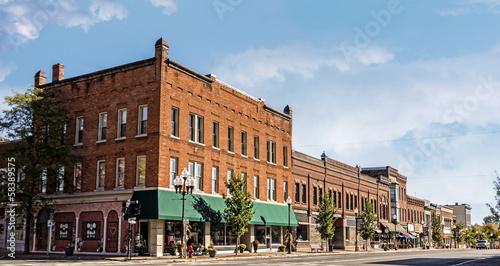 Small Town Main Street Canvas Print