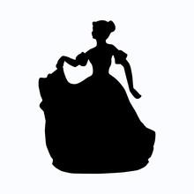 Vintage Victorian Lady Silhoue...