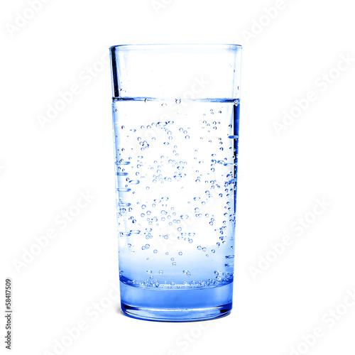 Papiers peints Eau Glass of blue water