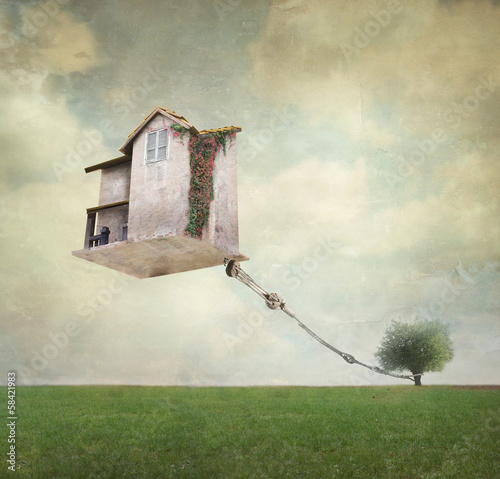Photo  Surreal house