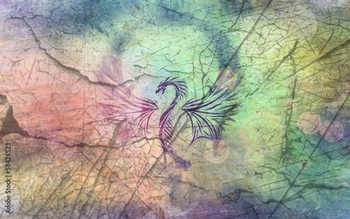 Fotografie, Tablou  dragon