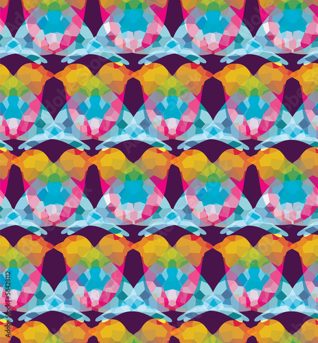 Aufkleber - Colorful birds seamless pattern