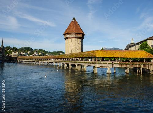 Photographie  Bridge in Lucerne