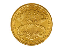 Twenty Dollars Gold Coin From 1882