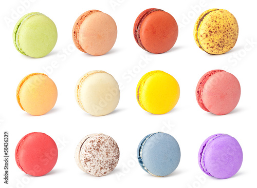 Poster Macarons Tasty colorful macaroon