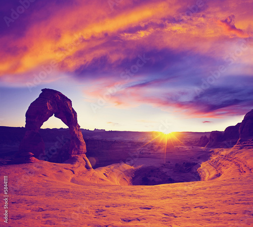 Canvas Prints Violet Delicate Arch