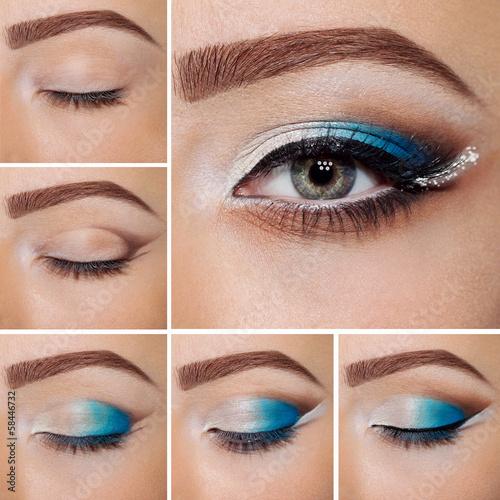 Fotografie, Obraz  step by step make-up.
