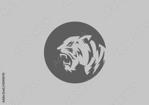 Fototapety, obrazy: tiger head silhouette