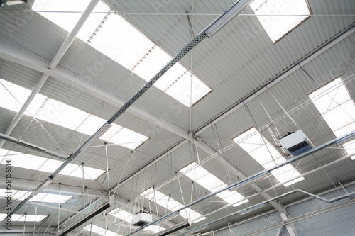 Staande foto Industrial geb. Industrial hall roof