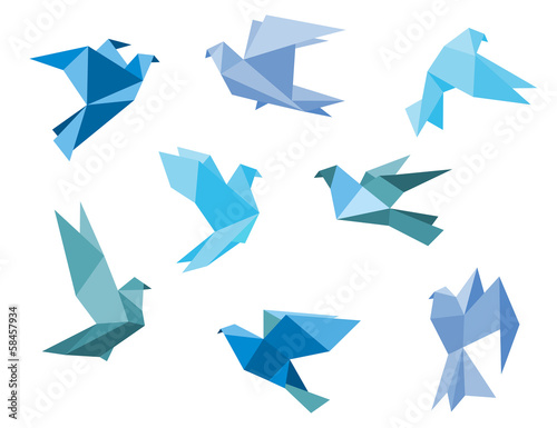 Paper pigeons and doves Poster