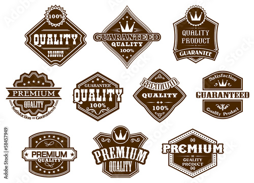 Photo  Labels and banners in western style