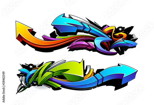 Foto op Aluminium Graffiti Graffiti arrows designs