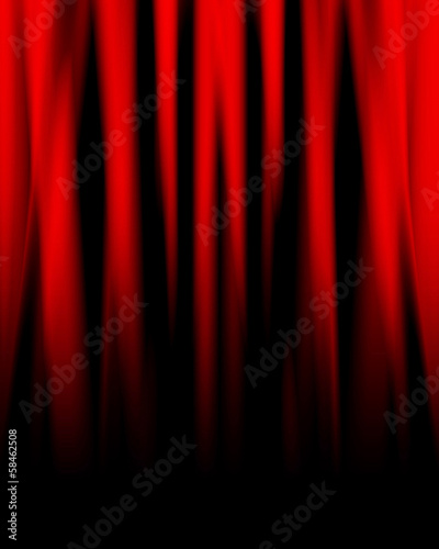 Photo  red drapes