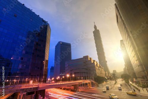 Foto op Plexiglas China City day and night
