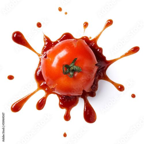 Fototapeta crushed tomato obraz