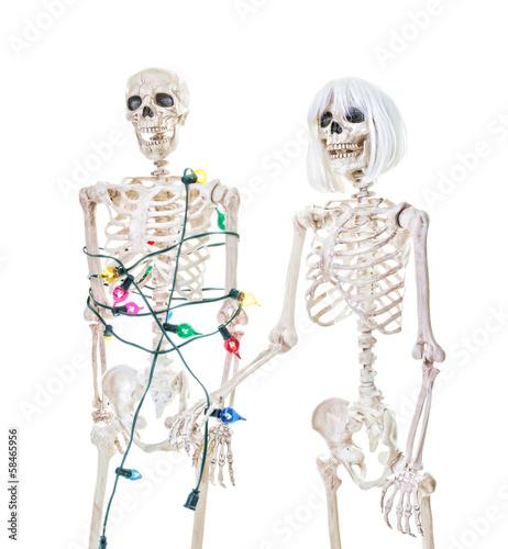 Christmas Skeleton.Captive Christmas Skeleton Buy This Stock Photo And