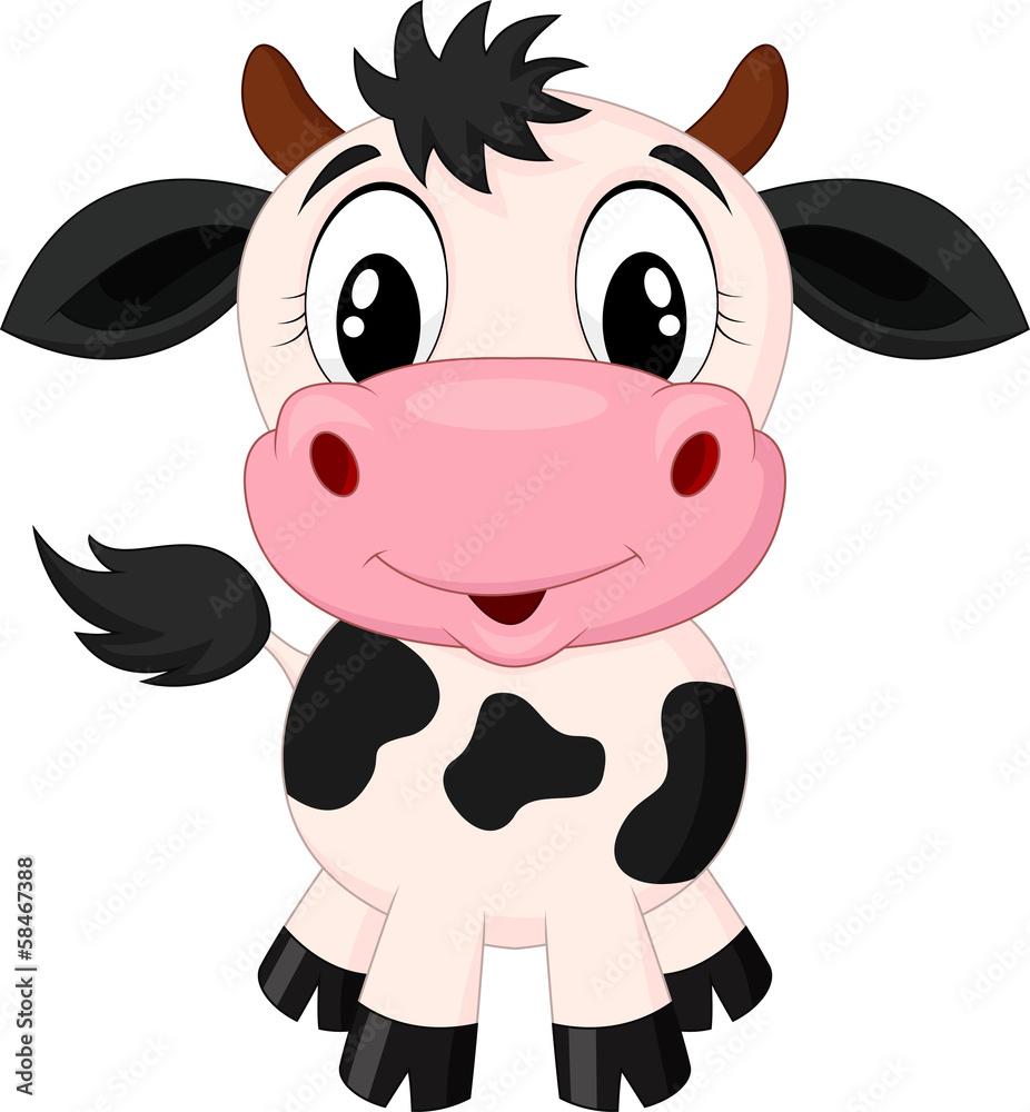 Fototapeta Cute cow cartoon