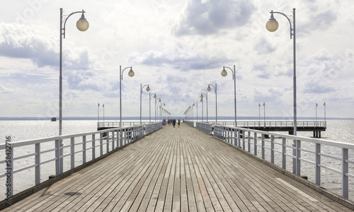 Jurata pier on the Hel peninsula, Baltic sea, Poland