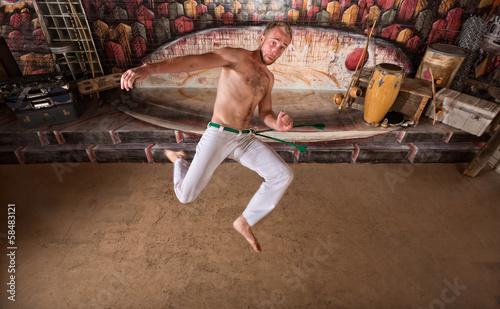 Deurstickers Stierenvechten Capoeira Twisting Kick
