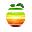 Dégradé des couleurs de fruits naturels.