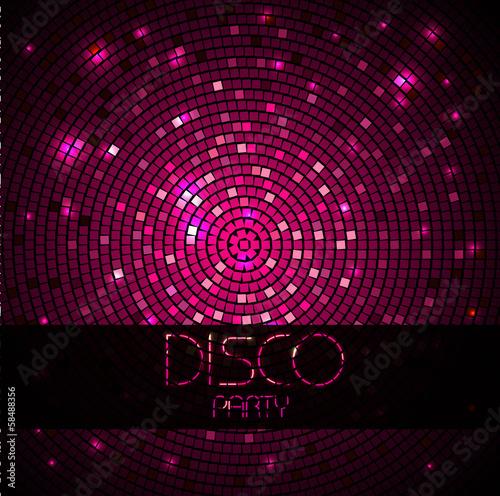 Obraz na plátně Disco ball. Disco background