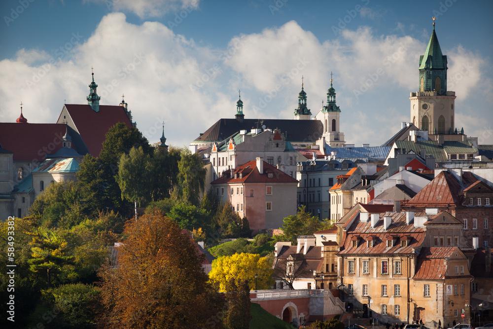 Fototapety, obrazy: Stare Miasto w Lublinie jesienią