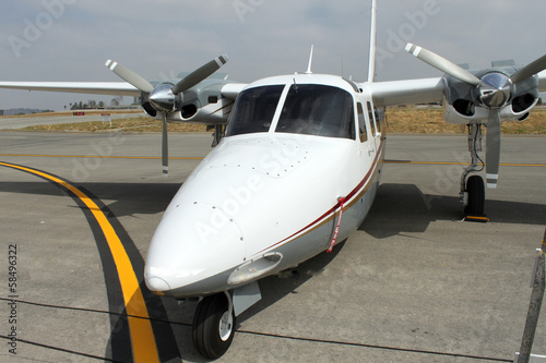 Obraz na plátně small plane parked at ramp