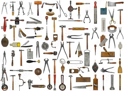 Photo vintage tools and utensils