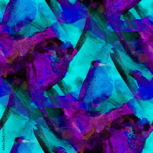 seamless cubism blue purple abstract art Picasso texture waterco #58509748