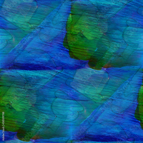 seamless green, blue cubism abstract art Picasso texture waterco #58509788