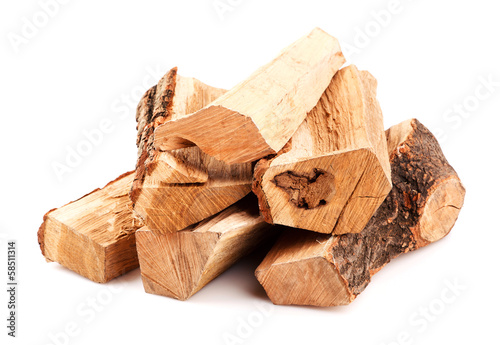 stack of firewood Wallpaper Mural