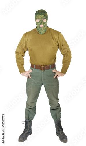 Cuadros en Lienzo Man wears green uniform of the guard