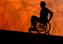 Active Disabled Man In A Wheel...