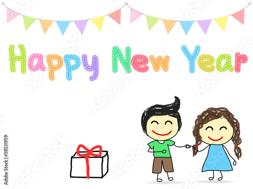 Happy New Year Drawing 49