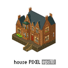 Pixel Art Isometric Building
