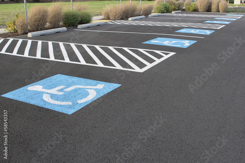 Photo Handicapped Parking Spaces