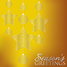 Elegant Hanging Ornament Card ...