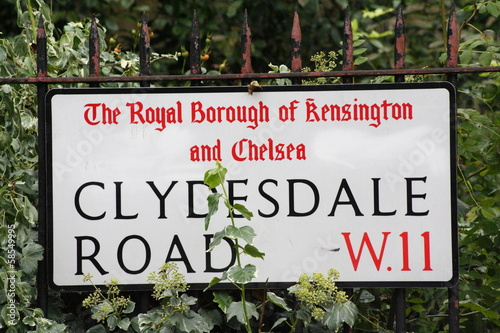Valokuva clydesdale Road W11 street sign a famous London Address