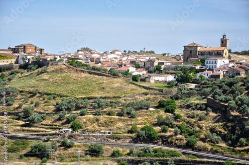 Poster Ruine Vista de Alcántara, Cáceres, Extremadura, España
