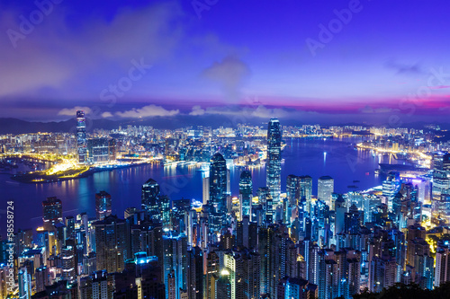 Photo  Hong Kong skyline from the peak