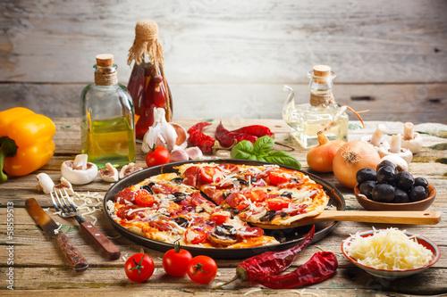 Fototapeta Homemade pizza obraz