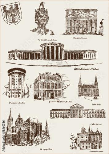 Architektur Gebäude Aachen Canvas Print