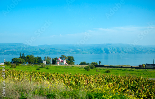 Landscape of Kinneret Lake - Galilee Sea Fototapeta