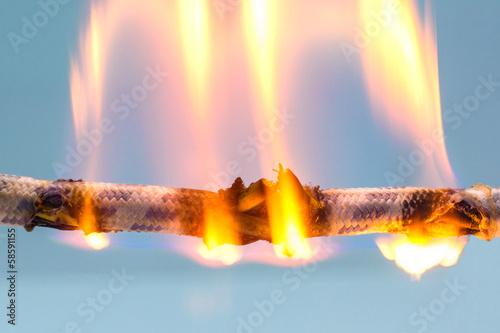 Fotografia, Obraz  burning cable